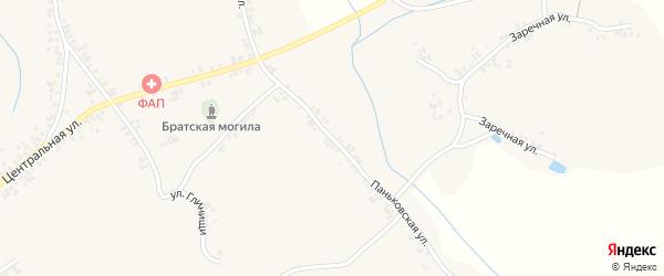 Паньковская улица на карте села Творишино с номерами домов