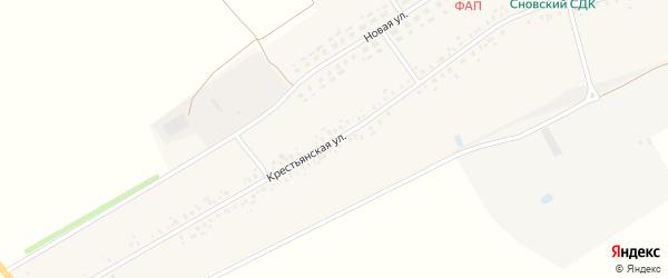 Крестьянская улица на карте Сновского села с номерами домов