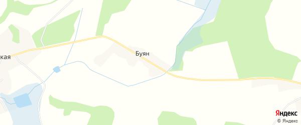 Карта поселка Буяна в Брянской области с улицами и номерами домов