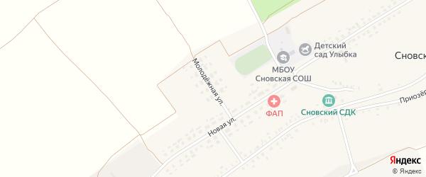 Молодежная улица на карте Сновского села с номерами домов