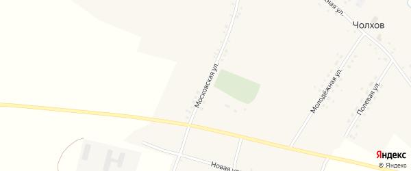 Московская улица на карте села Чолхов с номерами домов
