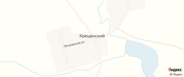 Петровская улица на карте Крещенского поселка с номерами домов