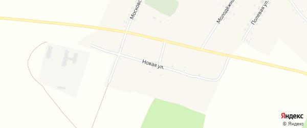 Новая улица на карте села Чолхов с номерами домов