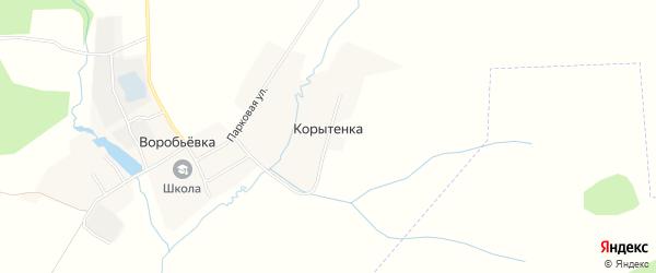 Карта поселка Корытенки в Брянской области с улицами и номерами домов