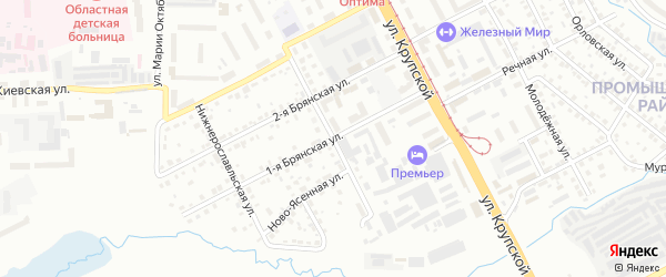 Верхне-Рославльская улица на карте Смоленска с номерами домов