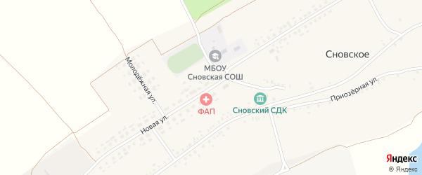 Новая улица на карте Сновского села с номерами домов