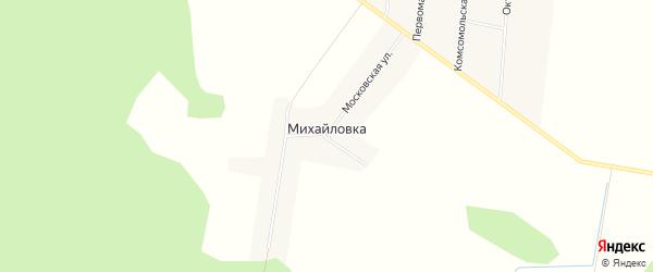 Карта поселка Михайловки в Брянской области с улицами и номерами домов