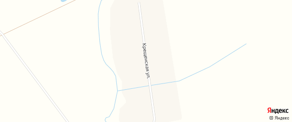 Крещенская улица на карте Крещенского поселка с номерами домов