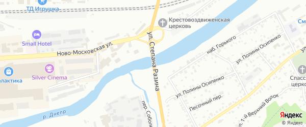 Улица Степана Разина на карте Смоленска с номерами домов