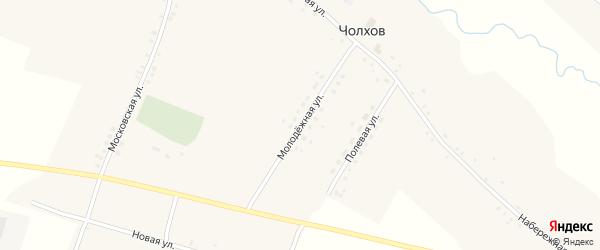 Полевая улица на карте села Чолхов с номерами домов
