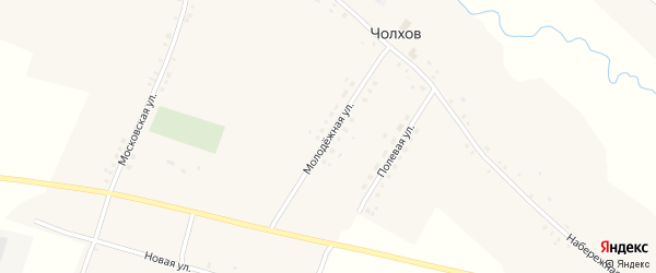 Молодежная улица на карте села Чолхов с номерами домов