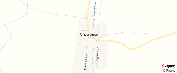 Карта деревни Струговки в Брянской области с улицами и номерами домов