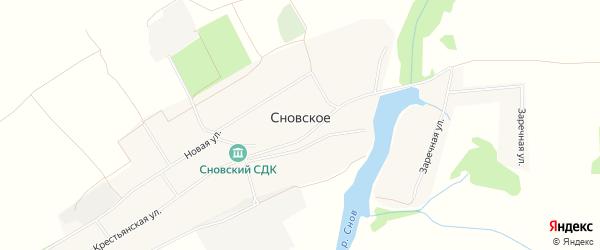 Карта Сновского села в Брянской области с улицами и номерами домов