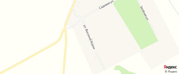 Улица Высокий Борок на карте села Манюки с номерами домов