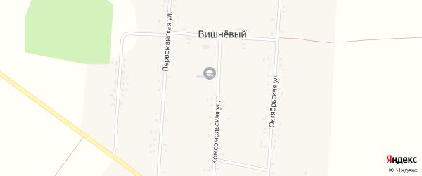 Переулок Механизаторов на карте Вишневого поселка с номерами домов