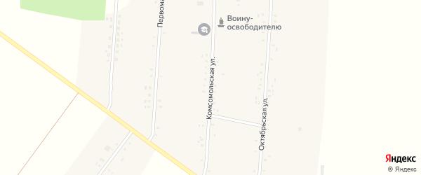 Комсомольская улица на карте Вишневого поселка с номерами домов