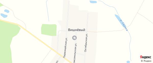 Карта Вишневого поселка в Брянской области с улицами и номерами домов