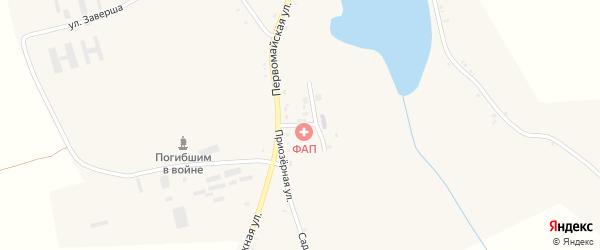 Приозерная улица на карте села Манюки с номерами домов