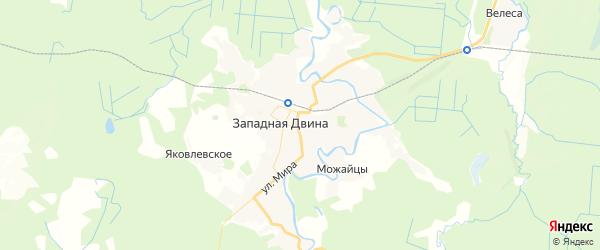 Карта Западной Двины с районами, улицами и номерами домов: Западная Двина на карте России
