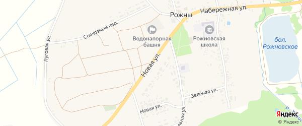 Новая улица на карте села Рожны с номерами домов