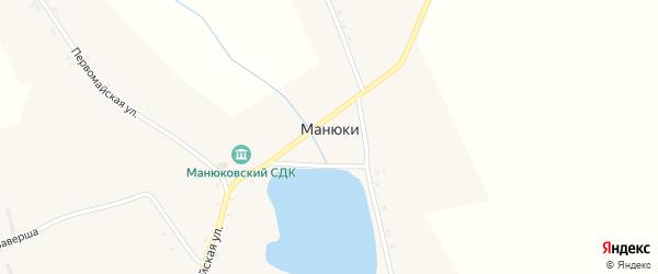 Улица Голубовка на карте села Манюки с номерами домов