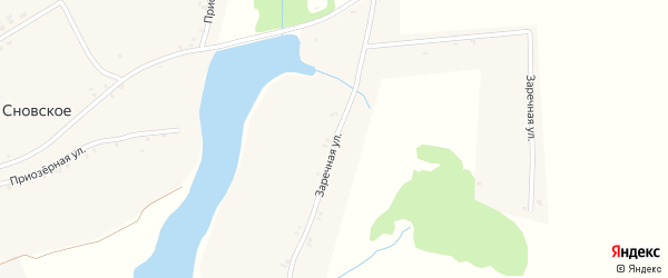 Заречная улица на карте Сновского села с номерами домов