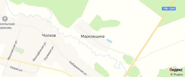 Карта поселка Марковщины в Брянской области с улицами и номерами домов