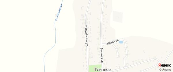 Молодежная улица на карте Глинного села с номерами домов