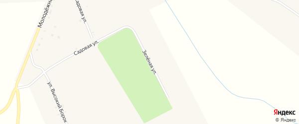 Зеленая улица на карте села Манюки с номерами домов
