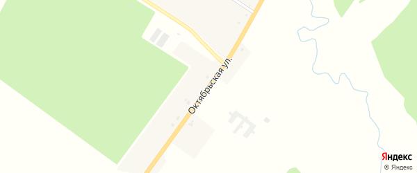 Октябрьская улица на карте села Чолхов с номерами домов