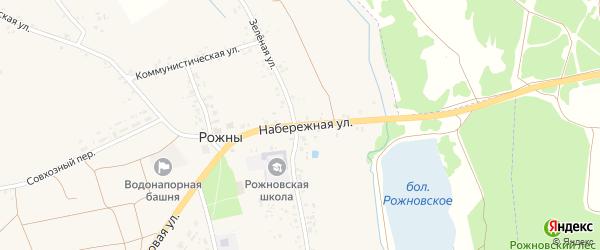 Набережная улица на карте села Рожны с номерами домов