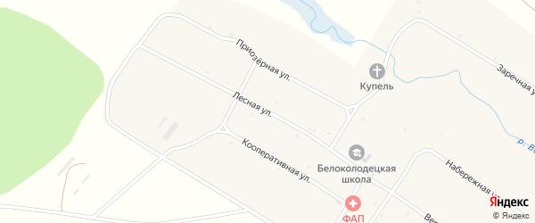 Лесная улица на карте села Белого Колодца с номерами домов