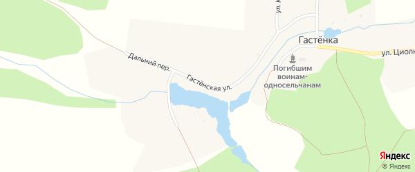 Гастенская улица на карте села Гастенки с номерами домов
