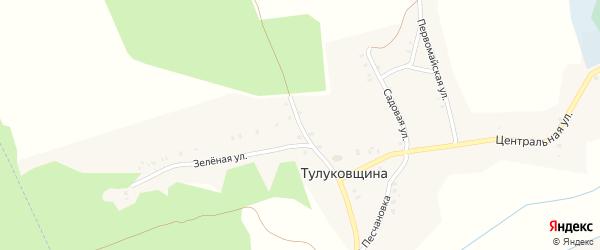 Песчаная улица на карте деревни Тулуковщины с номерами домов