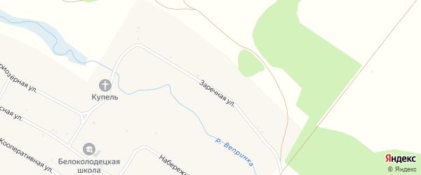 Заречная улица на карте села Белого Колодца с номерами домов
