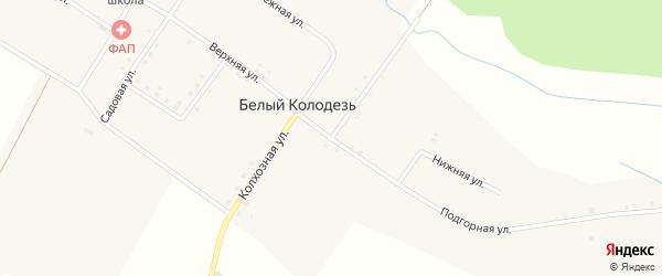 Колхозная улица на карте села Белого Колодца с номерами домов