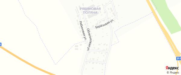 Облепиховая улица на карте Смоленска с номерами домов