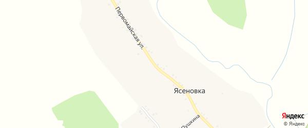 Первомайская улица на карте деревни Ясеновки с номерами домов