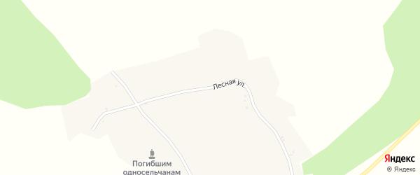 Лесная улица на карте деревни Заречья с номерами домов