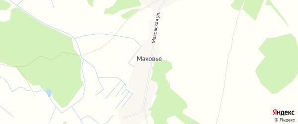 Карта поселка Маковья в Брянской области с улицами и номерами домов