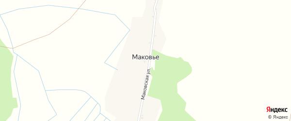 Лесная улица на карте поселка Маковья с номерами домов