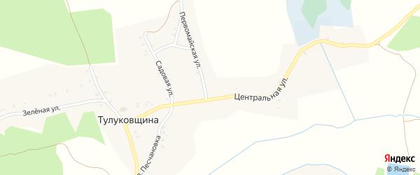 Улица Коммунаров на карте деревни Тулуковщины с номерами домов