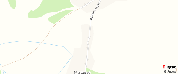 Маковская улица на карте поселка Маковья с номерами домов