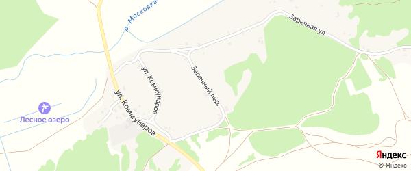 Заречный переулок на карте деревни Тулуковщины с номерами домов