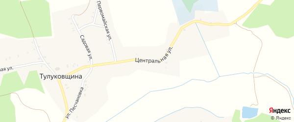 Центральная улица на карте деревни Тулуковщины с номерами домов