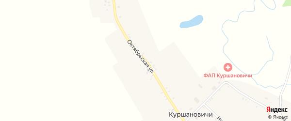Октябрьская улица на карте села Куршановичей с номерами домов