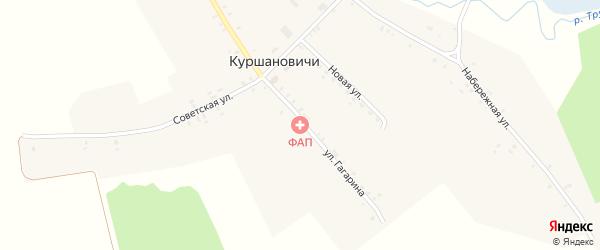 Набережная улица на карте села Куршановичей с номерами домов