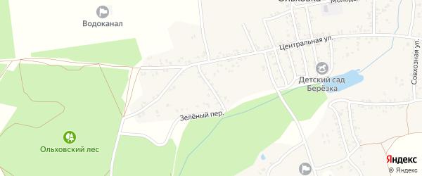 Зеленый переулок на карте села Ольховки с номерами домов