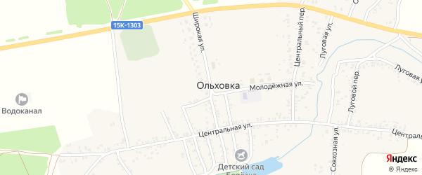 Широкая улица на карте села Ольховки с номерами домов
