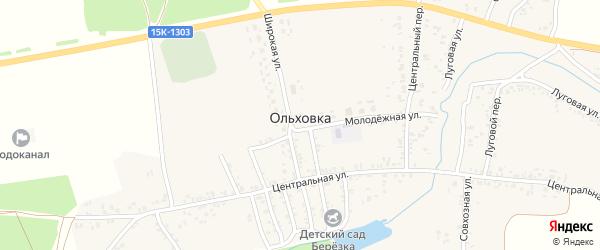 Ольховая улица на карте села Ольховки с номерами домов